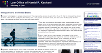 Thumbnail image of a page on Kashani Law dot com, with the address of https://www.kashanilaw.com/Default.aspx